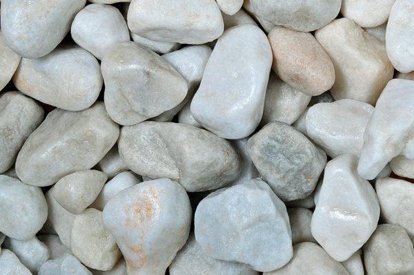 white-marble-pebbles